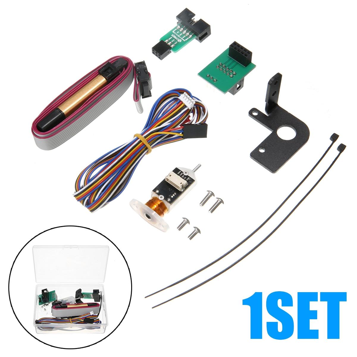 1 Juego de impresora 3D Sensor de nivelación táctil bl-touch Kit de Sensor de nivelación de cama automático para impresora 3D CR-10/ Ender-3