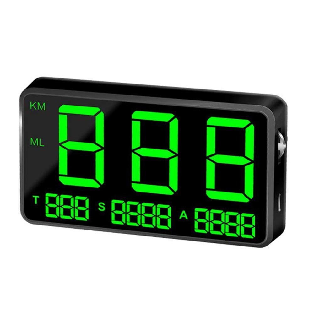 Pantalla de velocidad C80 KM/H MPH para coche, bicicleta, motocicleta, GPS, pantalla Hud de alarma de exceso de velocidad, pantalla Hud para coche, velocímetro GPS de 4,5 pulgadas