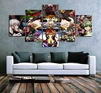 5 piece wall art canvas anime hero posters comics academia pictures modern home decorative framed bedroom decoration paintings
