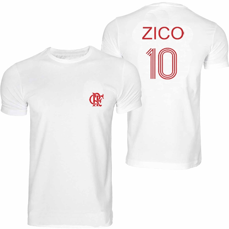 ZICO T camisa Brasil FLAMENGO UDINESE futbolista leyenda CAMISETA SOCCERER KASHIMA hombres CAMISETA Tops Tees