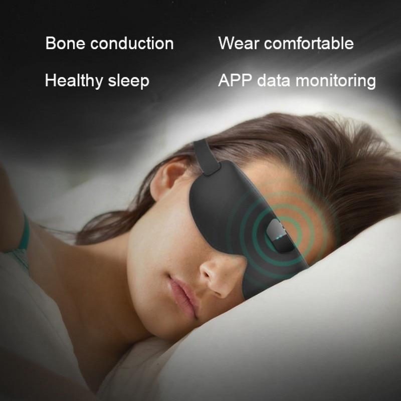 Anti-snoring Eye Mask Smart Bluetooth Wireless Blindfold 3D Contoured Block Out Light Sleeping Eye Shades Mask New
