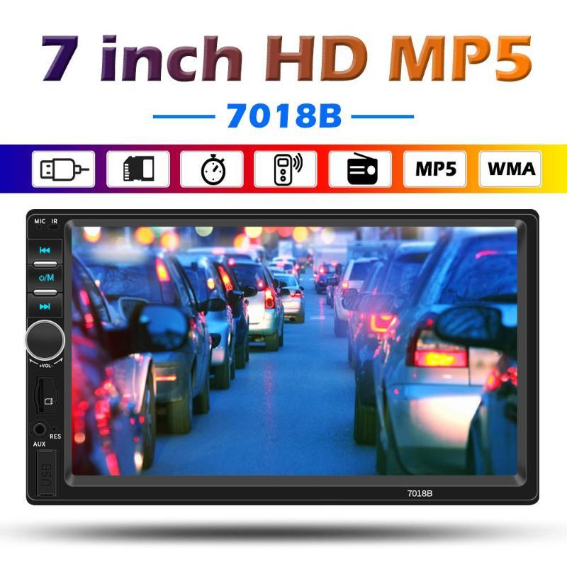 SWM 7018B 2DIN 7-дюймовый экран Bluetooth автомобильный стерео Мультимедийный плеер AUX USB TF FM радио в приборной панели цифровой медиаприемник