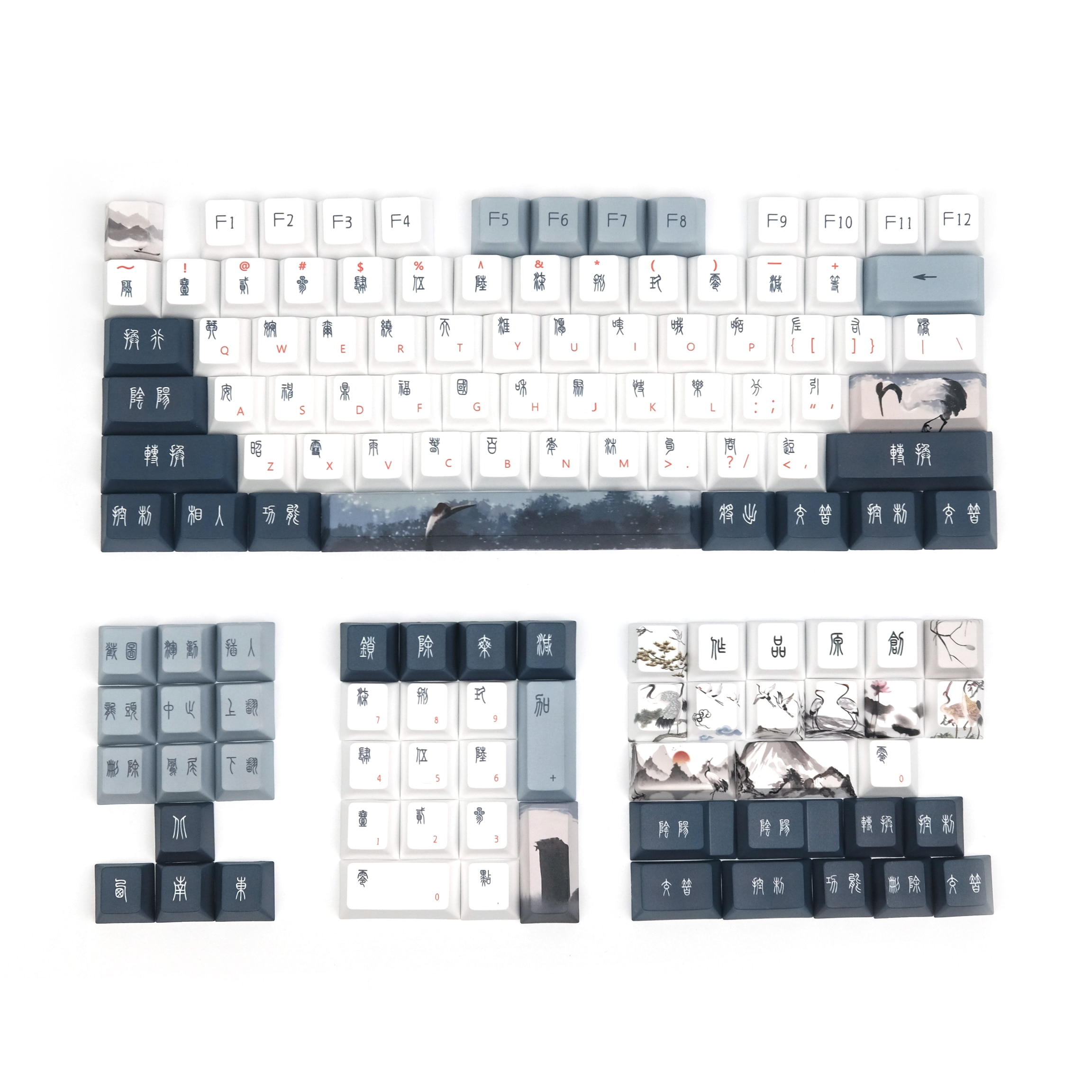 أغطية مفاتيح رافعة حمراء متوجة ، PBT ، ملف تعريف الكرز ، صبغ التسامي ، لوحة مفاتيح ميكانيكية ريترو