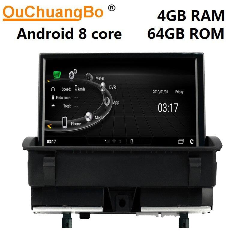 Ouchuangbo аудио плеер радио рекордер для Q3 2011-2016 Поддержка android 9,0 gps 8 дюймов 4 Гб RAM 64 Гб ROM экран может двигаться
