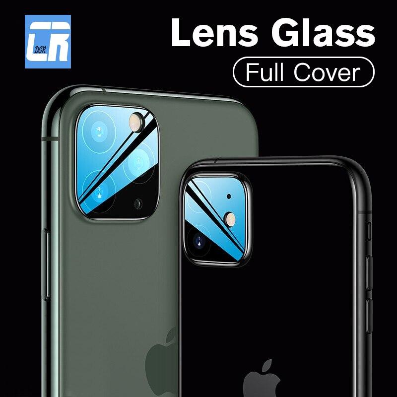 2 unids/lote Protector de lente de cámara de vidrio templado para iPhone 11 X XS X 3D enfoque trasera Protector de pantalla para iPhone 11 Pro XS MAX de vidrio