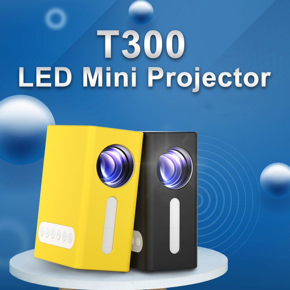 LED Projector Multi-interface Home Theater Video Projector Smart WIFI Version Yellow T300 Portable P