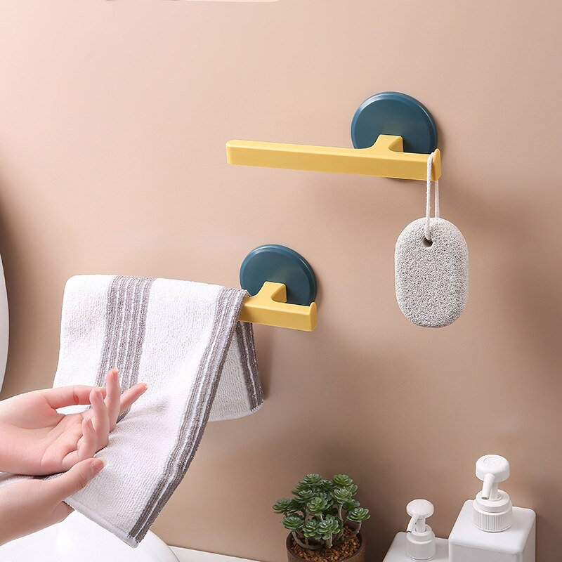 T-Em Forma De Toalha Parede Rack de Casa-Montado Toalheiro Banheiro Livre-Prego Toalha Barra de Toalha De Banho Higiênico rack