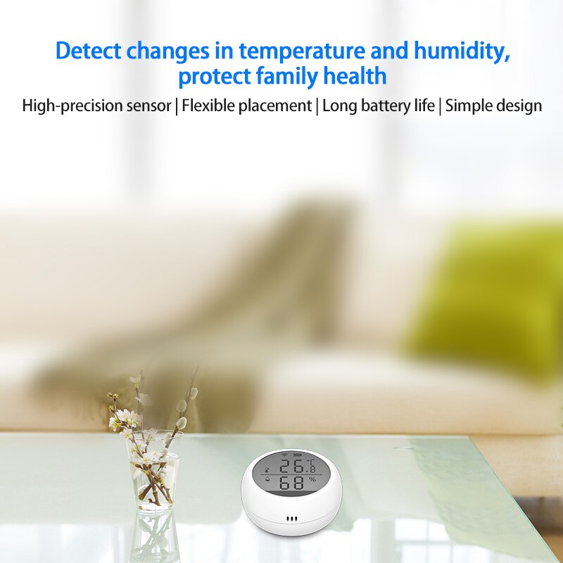 Tuya WIFI Temperature Humidity Sensor Indoor Hygrometer Smart Life With LCD Display Support Alexa Google Assistant Smart Home