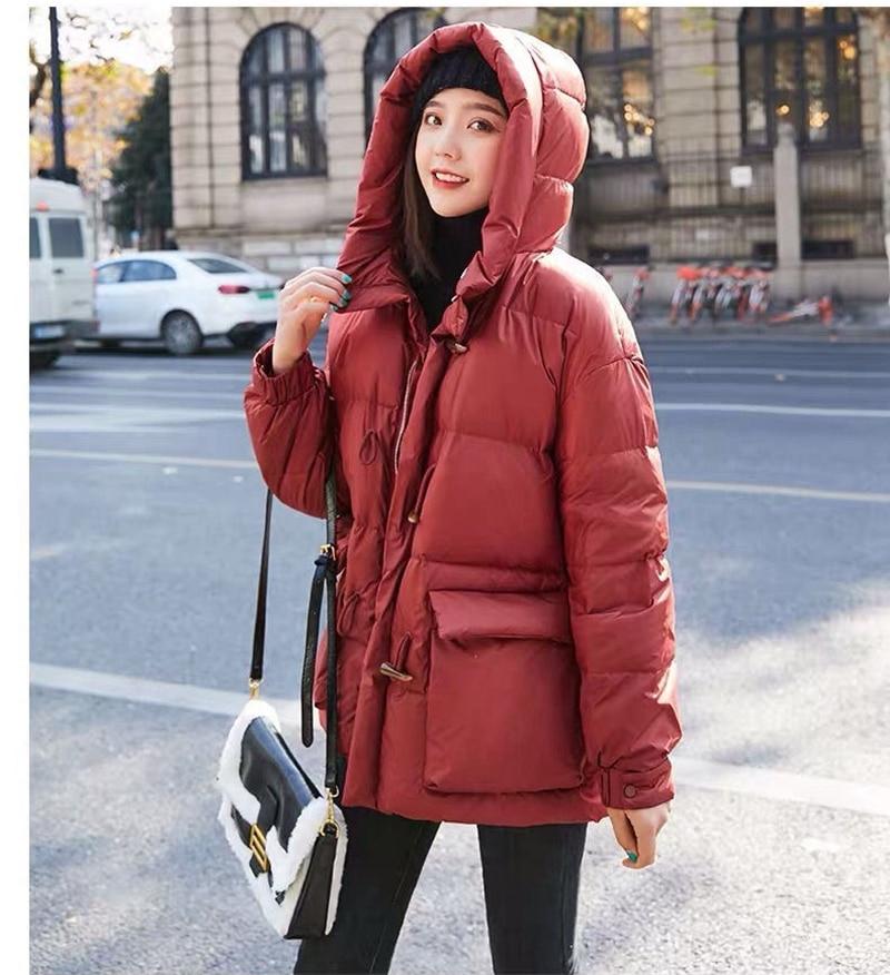 Abrigo largo de moda para mujer, chaqueta de plumón de pato blanco de alta calidad, cálido rompevientos H622