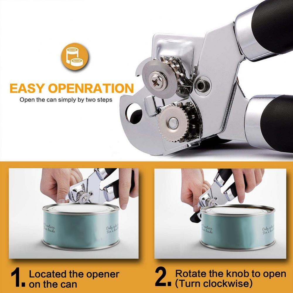 80%HOT3-in-1 Manual Can Opener Tin Jar Beer Bottle Cap Remover Cutter Kitchen Tool manual food tin can seamer