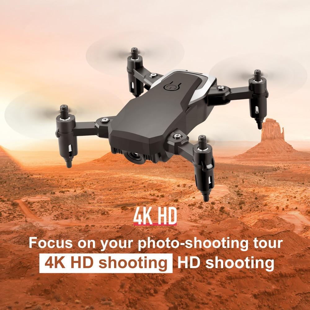 LF606 Mini cámara RC Drone plegable con cámara Wifi 4K FPV Selfie helicóptero quadcóptero que mantiene altitud Profesional Drones Juguetes