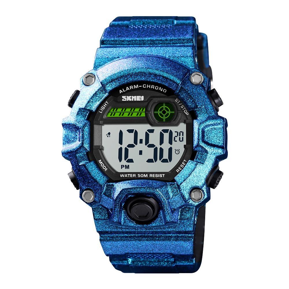 SKMEI New Kids Watches Digital Wristwatches 50M Waterproof Plastic Case Alarm Boys Girls Children Watch reloj relogio infantil