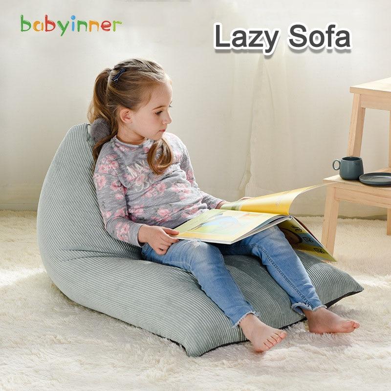 Детские мягкие диваны Babyinner, детские стулья, съемные мешки, форма парусника, сиденье для отдыха, пуфик, диван, экологически чистое сиденье-та...