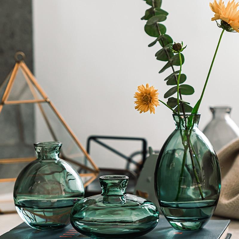 3 Pcs/Sets Vase Simple Home Decor Glass Decoration Accessories For Living Room декор дома ваза для декора горшок цветов
