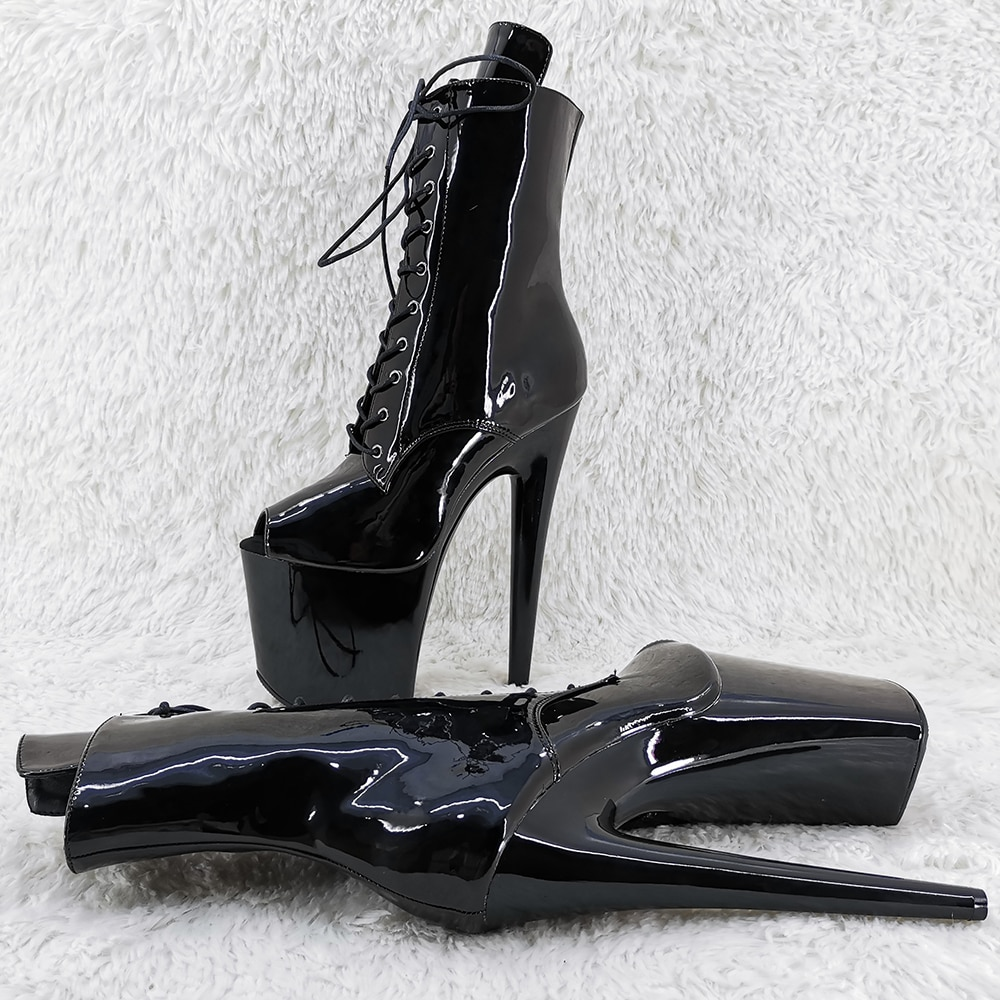 Leecabe  20CM/8inches Pole dancing shoes High Heel platform Pole Dance boot