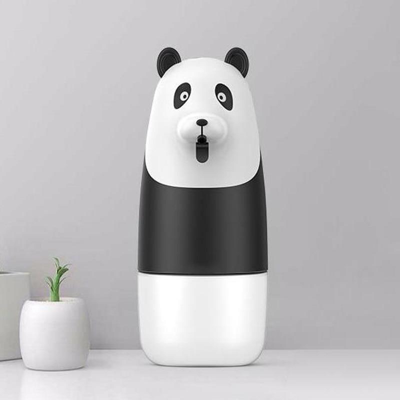 280 مللي USB شحن موزع الصابون السائل التلقائي Touchless الاستشعار الأشعة تحت الحمراء التعريفي Bashroom الباندا رغوة اليد غسالة