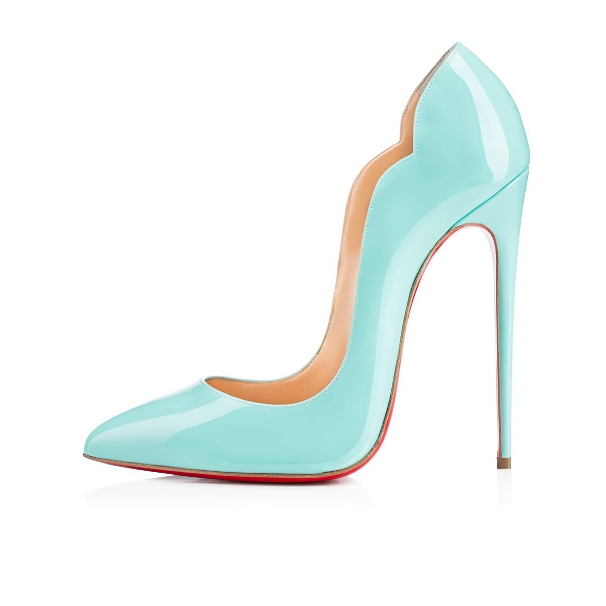 Clear Wave Pattern Luxury Pumps Sexy Platform Women High Heels 8 10 12cm Ladies Red Bottom Wedding M