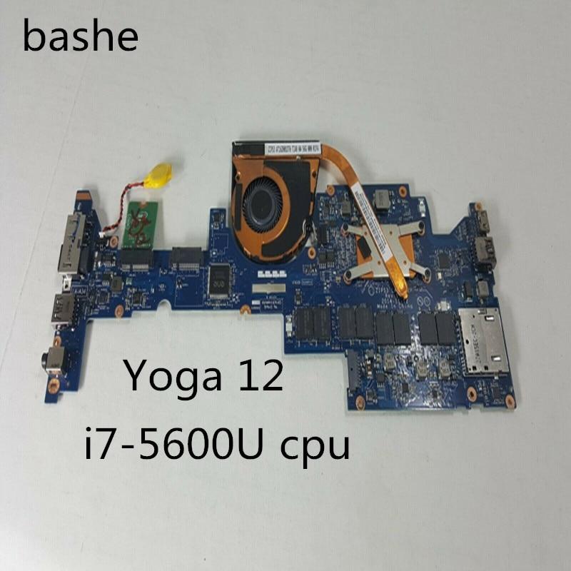 Para Lenovo YOGA 12 laptop placa base i7-5600u CPU gráficos independientes tarjeta la-a342p placa base 100% entrega de prueba gratuita