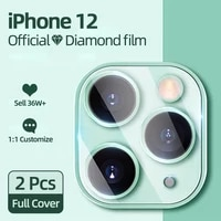 2pcs 9d back lens protective glass screen protector for iphone 12 11 pro max tempered glass for iphone 12 camera protector