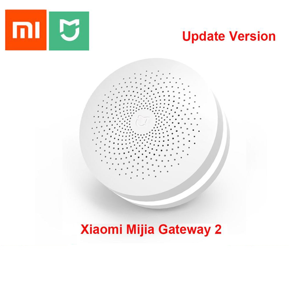 Xiaomi Mijia Multifunctional Gateway Update Version 2 Hub Alarm System Intelligent Online Radio Night Light Bell Smart Home Hub