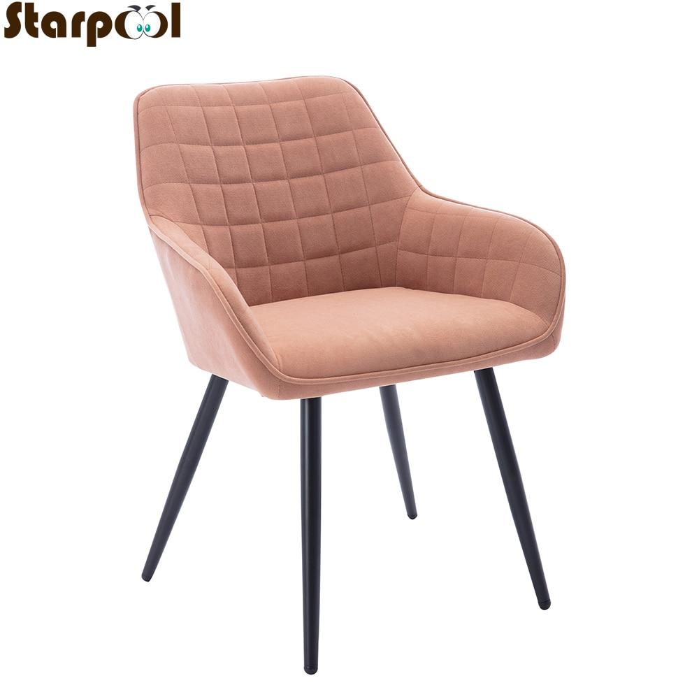 Роскошные стулья в скандинавском стиле для гостиной, обеденные стулья, европейская спинка, мебель для дома и кухни, современный стул из кова...