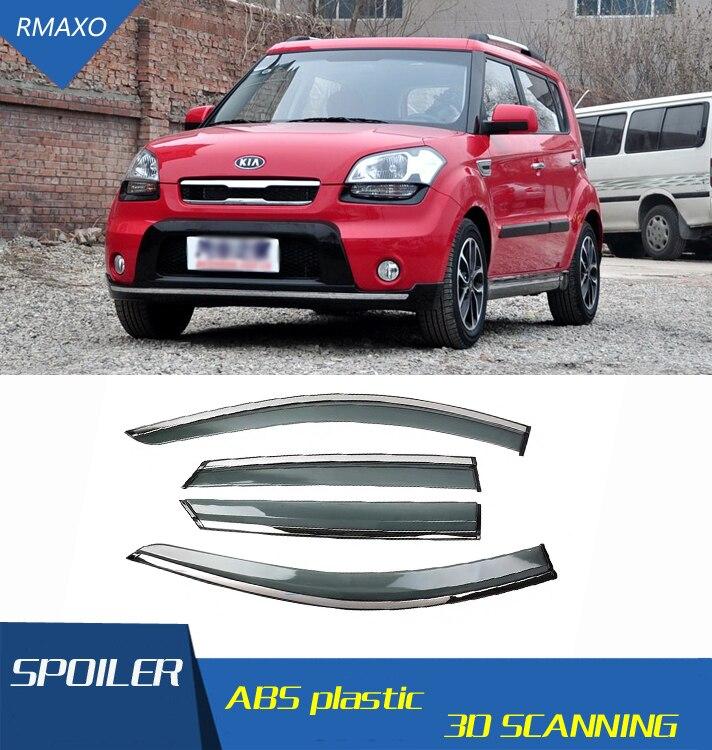 Para Kia Soul 2010-2013 visera protección deflectora sol lluvia para Kia Soul Auto ACCESORIOS 4 unids/set