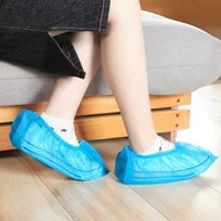 100pcs safety shoe boots cover disposable plastic waterproof thick shoe cover protective tools outdoor rainy day carpet cleaning