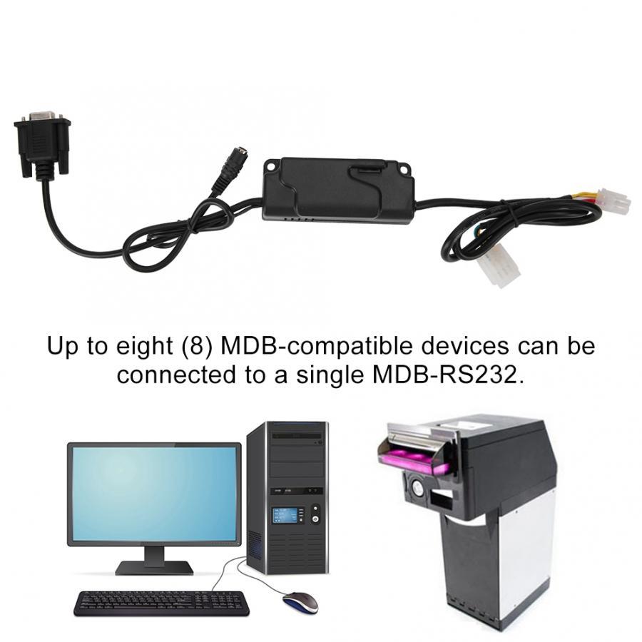 MDB-RS232 mdb dispositivo de pagamento ao conversor rs232 do computador para o validador da moeda de mdb