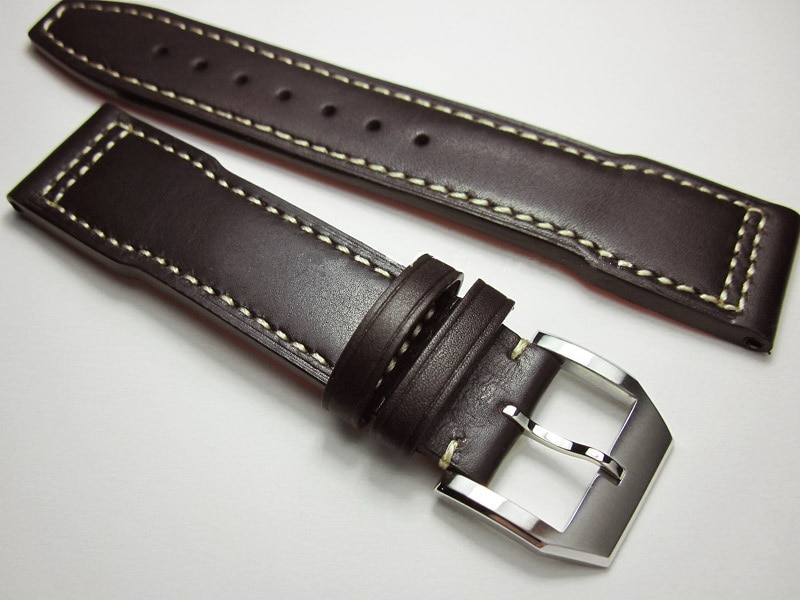 Men's Calf Leather Watch Band for IWC Pilot Mark Watch Strap 20mm 21mm 22mm high quality Dark Brown