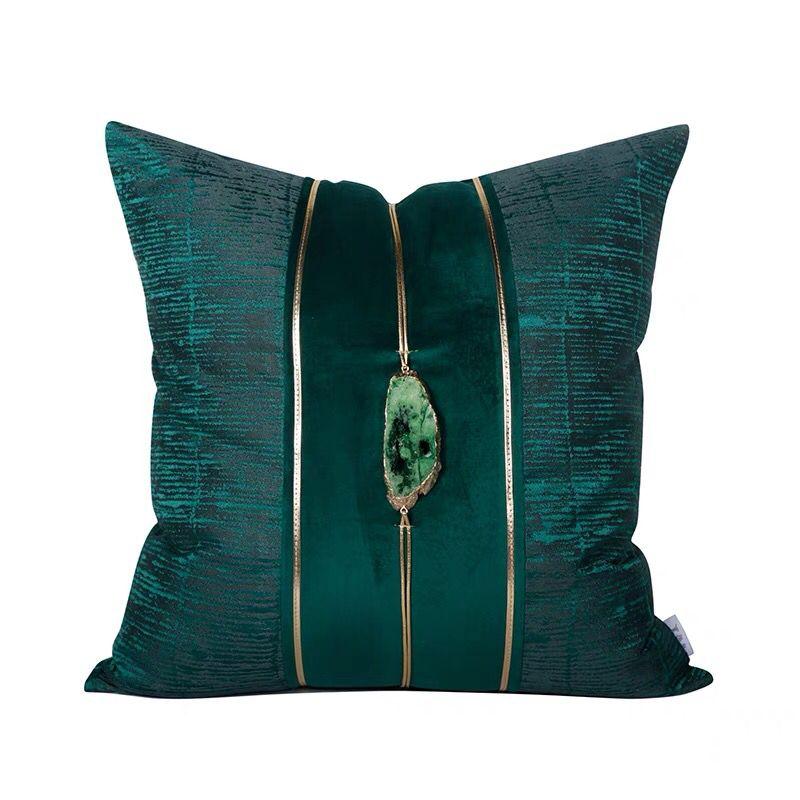 الأخضر جوهرة حجر غطاء الوسادة ضوء الفاخرة رمي المخدة ديكور غرفة نوم وسادة سيارة غطاء ديكور المنزل