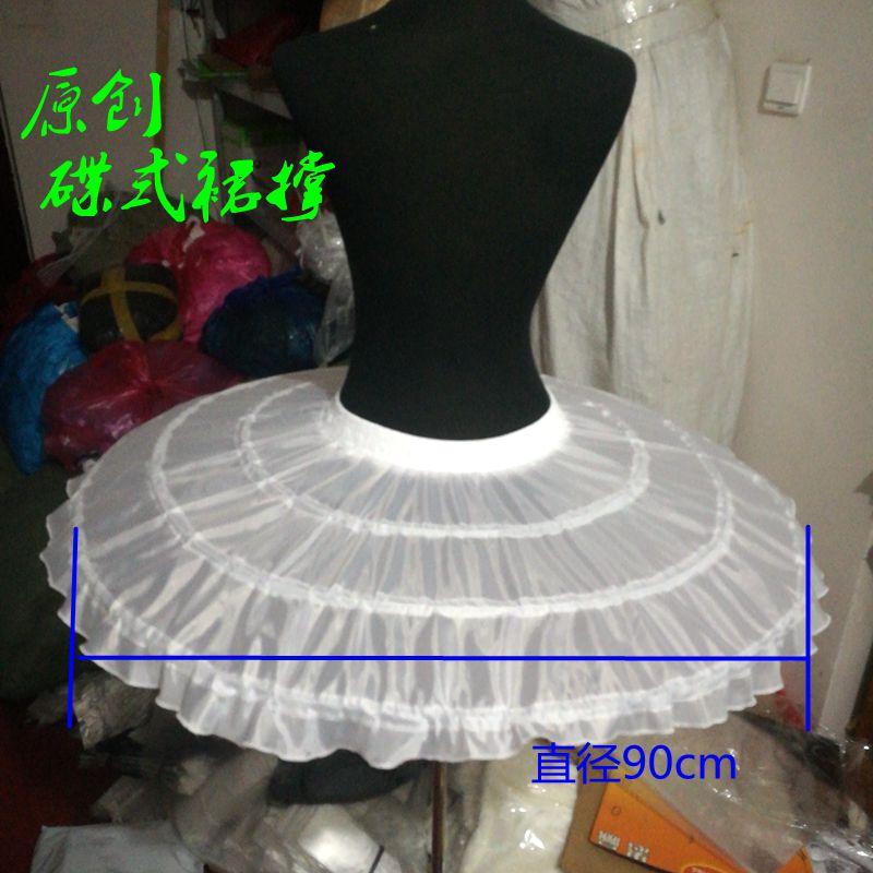 Enagua Niña 3 capas sin agujeros tres capas Net blanco vestido de bola flor niña vestido crinolina para boda enagua para fiestas 2019