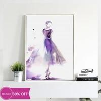 Affiches de peinture sur toile de decoration de noel  image artistique murale de fille dansante pour salon  decoration de maison