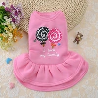 puppy pet dogs clothes summer dog costume sling sweetly princess dress teddy party birthday decor bow knot dress for small dog