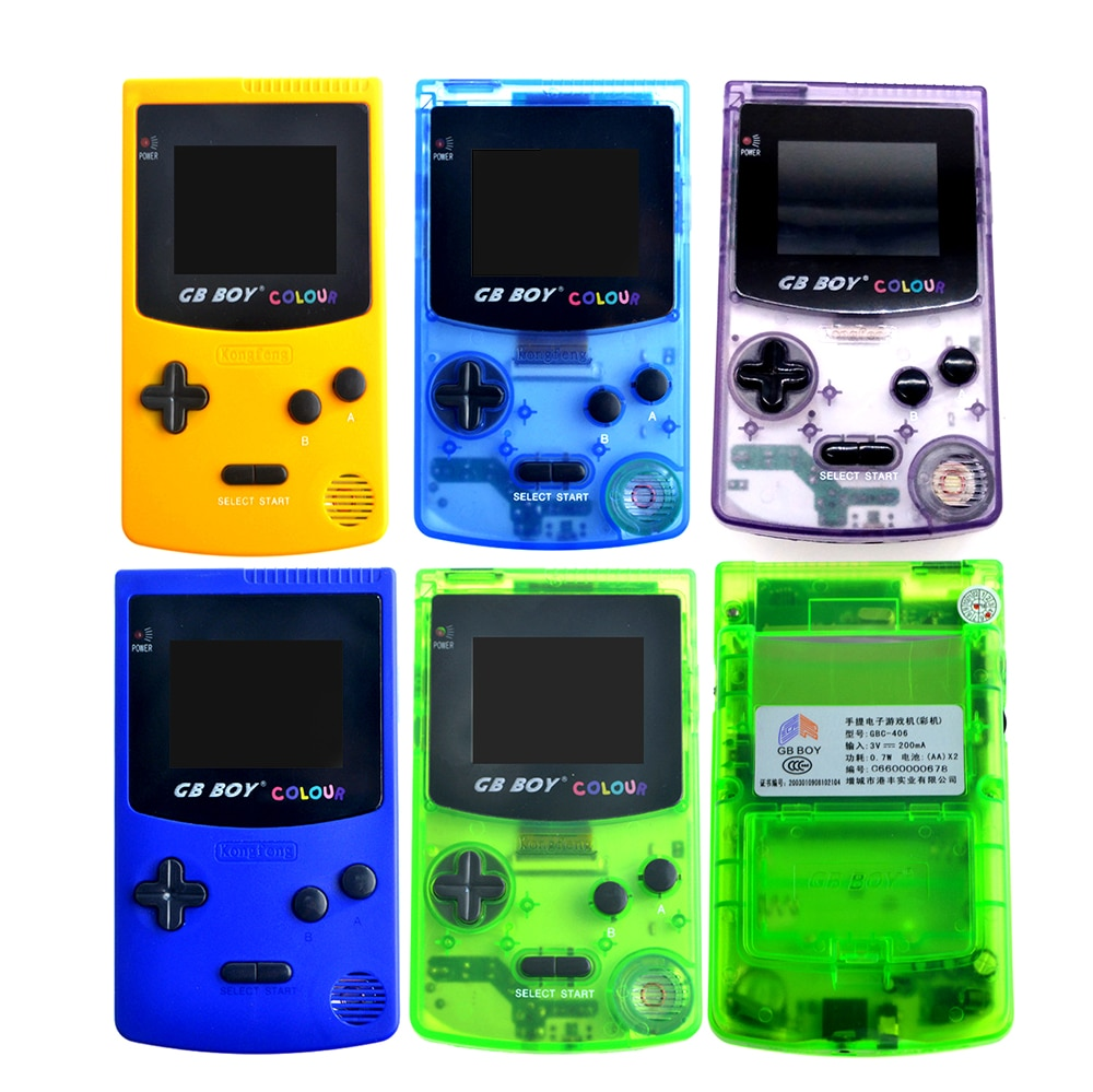 """GB Boy Colour Color Portable Game Console 2.7"""" 32 Bit Handheld Game Console With Backlit 66 Built-in Games Support Standard Card"""