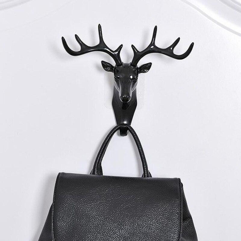 Three-Dimensional Wall Hanging Hook  Antlers American Decoration Creative Deer Head Seamless Key