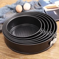 lock style removable bottom non stick metal bake mould round cake bakeware carbon steel cakes molds kitchen baking tool
