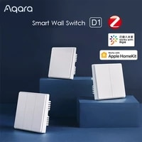 AQara     interrupteur mural intelligent D1  telecommande vocale Zigbee  ligne zero  fil de feu  fonctionne avec lapplication Mijia Homekit