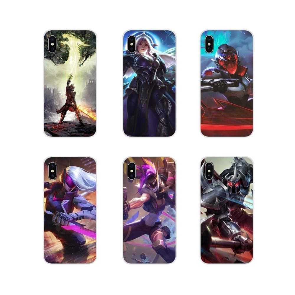 League of legends jogo para apple iphone x xr xs 11pro max 4S 5S 5c se 6 s 7 8 plus ipod touch 5 6 acessórios capa de telefone