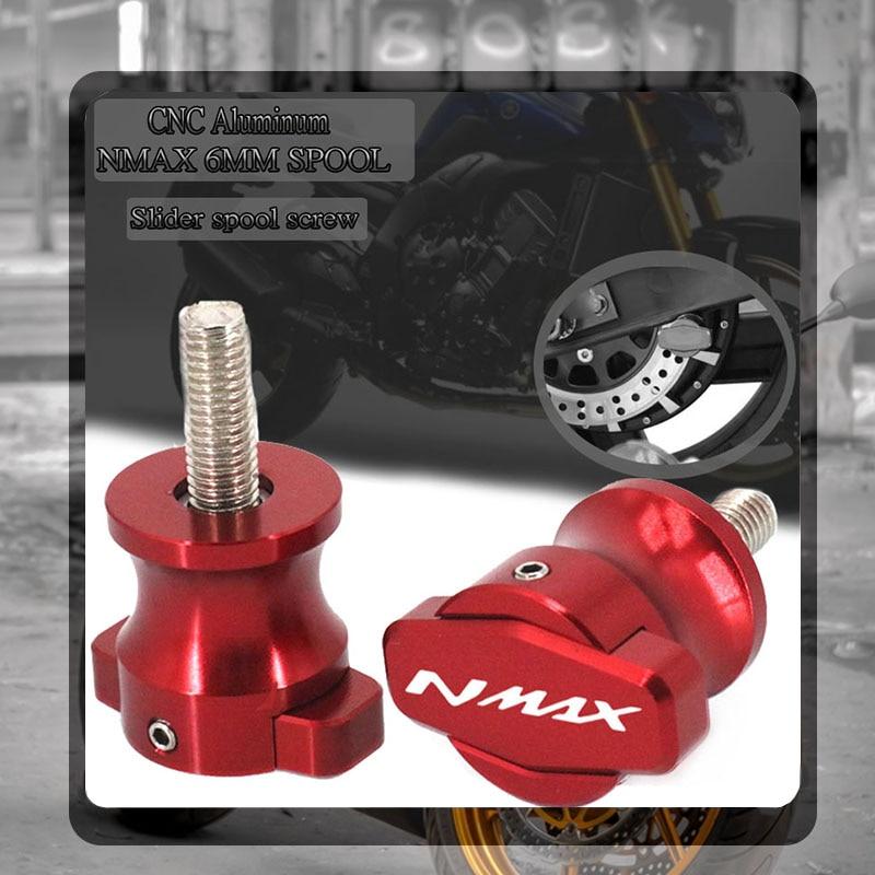 Pour YAMAHA NMAX155 N-MAX155 NMAX 155 125 N-MAX 2017 2018 2019 moto CNC cadre Stands curseurs bras oscillant bobines M6 vis 6MM
