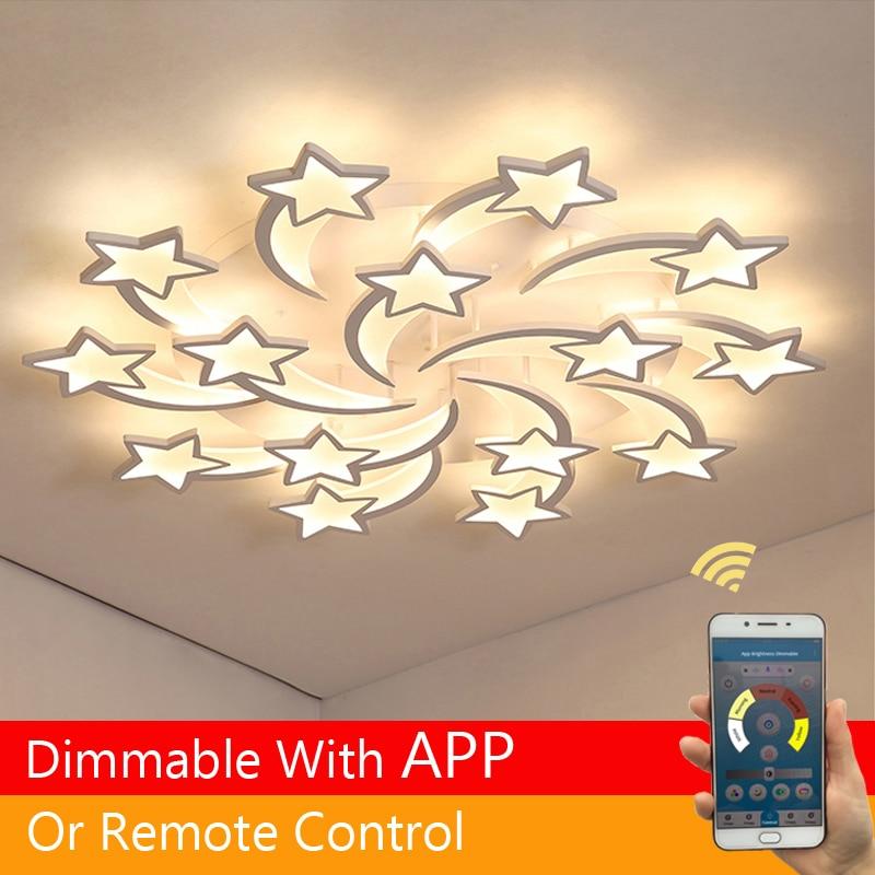 Светодиодная люстра, крытый светильник, люстры, потолок с пультом дистанционного управления, гостиная, спальня, кухня, детская комната, свет...