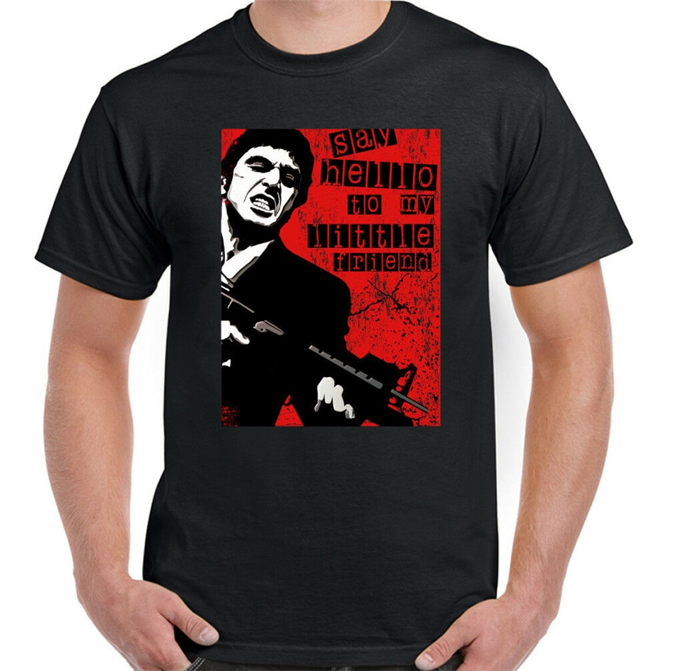 Camiseta Scarface para hombre, De estilo Retro, De la película De Robert De Niro, gángster, Mob, Mafia, TV, regalo De cumpleaños