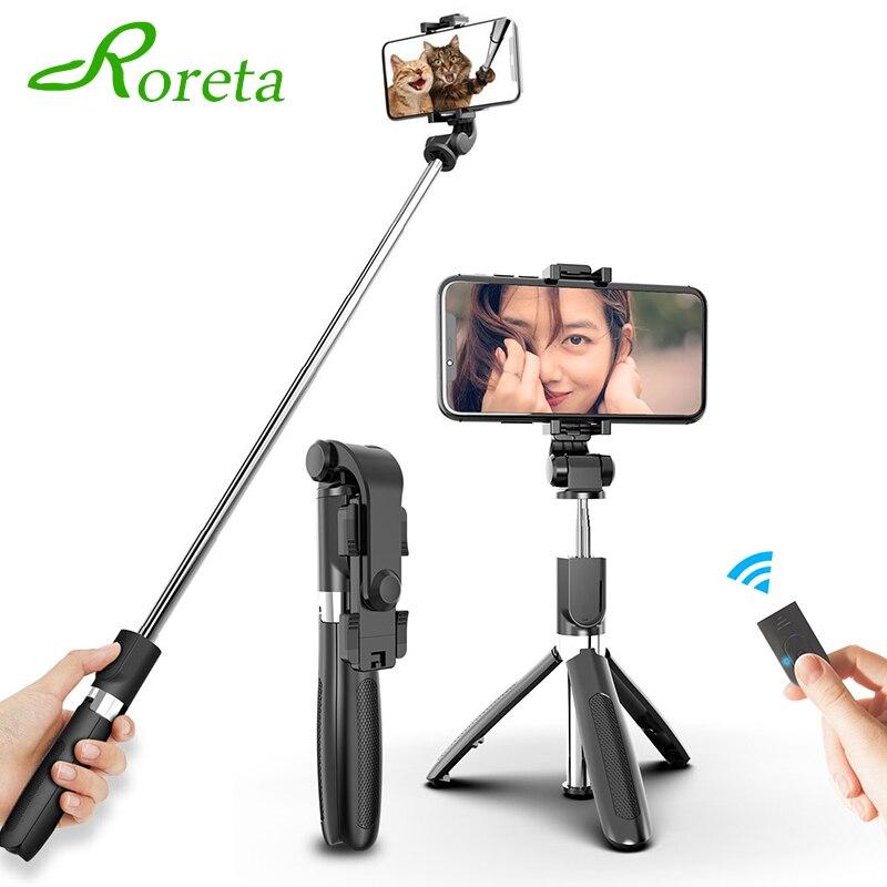 Roreta 3 in 1 Wireless Bluetooth Mini Selfie Stick Stativ Faltbare Handheld 360 grad einstellbare Für IOS/Android