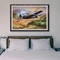 Peinture retro classique T040  78 operations de vol davion de guerre  affiche en soie personnalisee  decoration murale  cadeau de noel