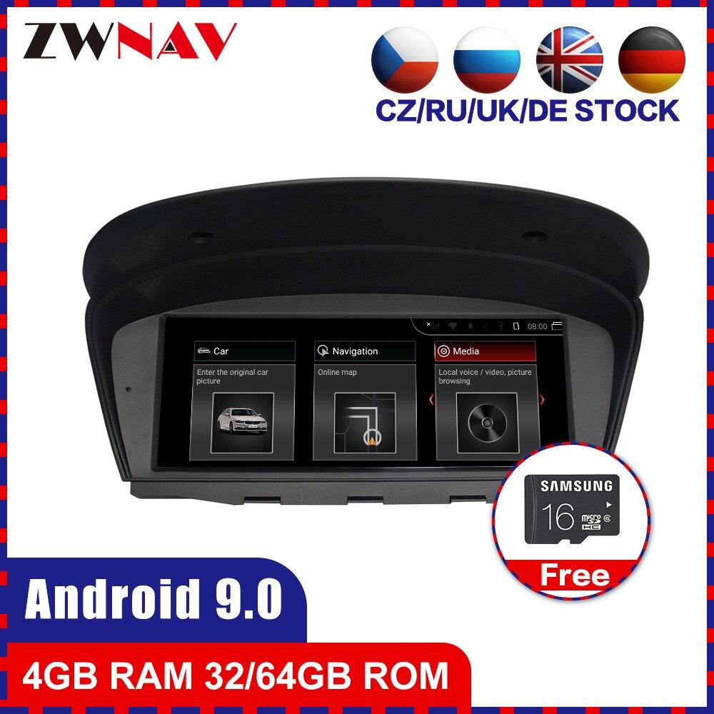 Android 9.0 Car multimedia Player GPS Áudio navi para BMW 5seris E60 E61 M5 6 seris E63 E64 M6 3 Seris E90 E91 E92 E93 M3 estéreo