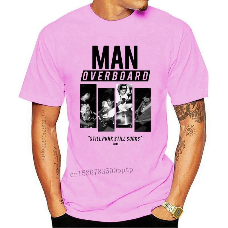 New MAN OVERBOARD STILL PUNK STILL SUCKS 2011 AMERICAN POP PUNK T-SHIRT S M L XL 2XLshort sleeve men Tee T shirt o-neck knitted