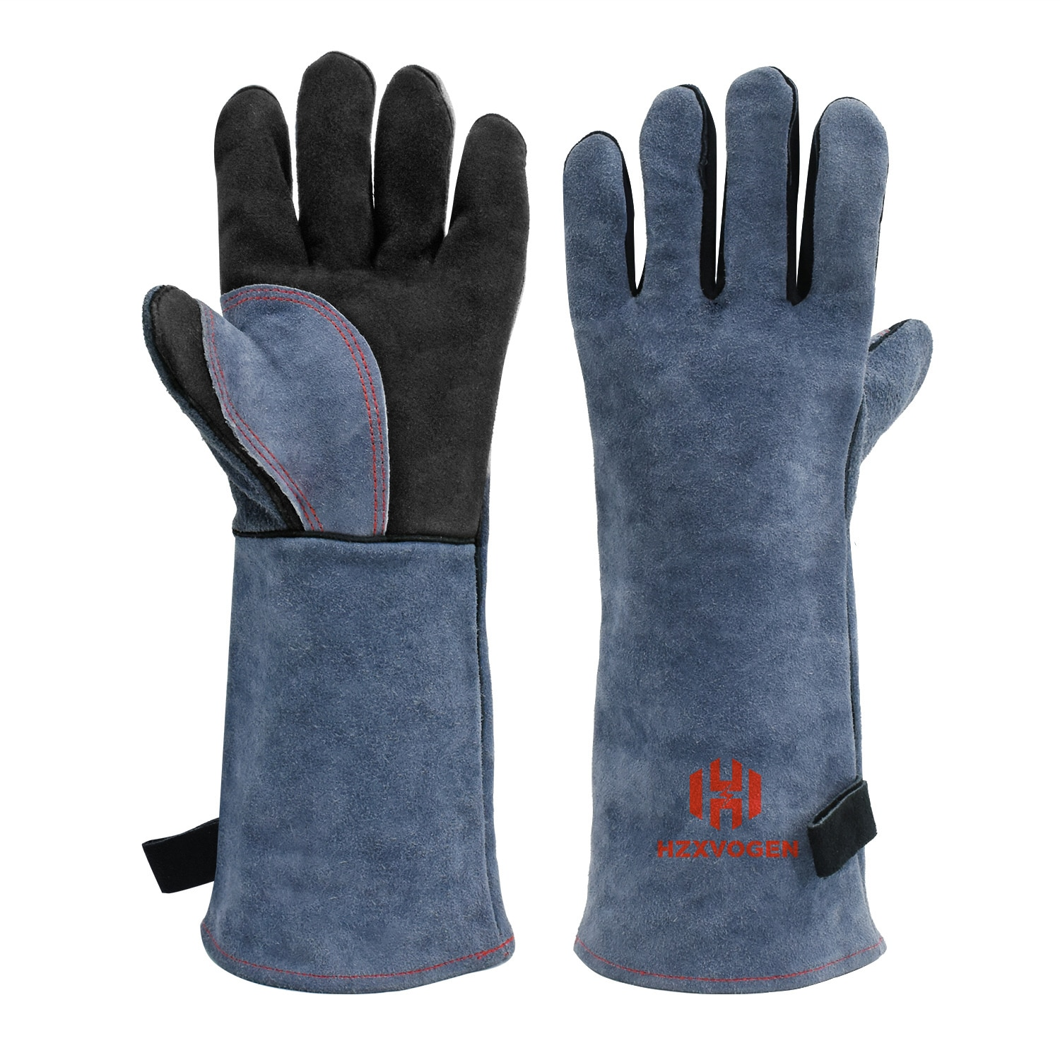 warm winter safety glove split cow leather welding work glove Welding Gloves For Welder works with Blue Palm Welders Thick Cow Split Leather Kitchen Stove Heat Puncture Resistant BBQ Glove