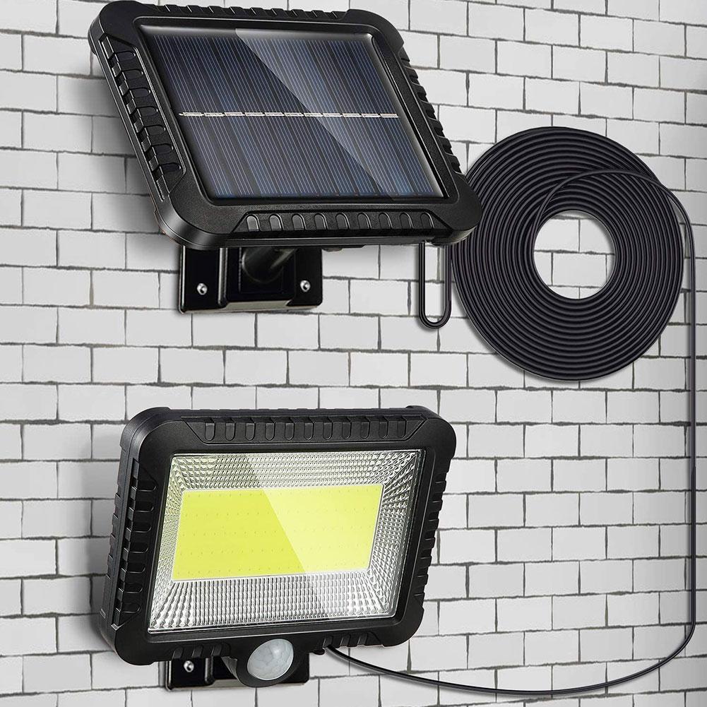 100/120LED Solar Light Outdoor Motion Sensor Recharge Solar Wall Light Waterproof Emergency Led Ligh