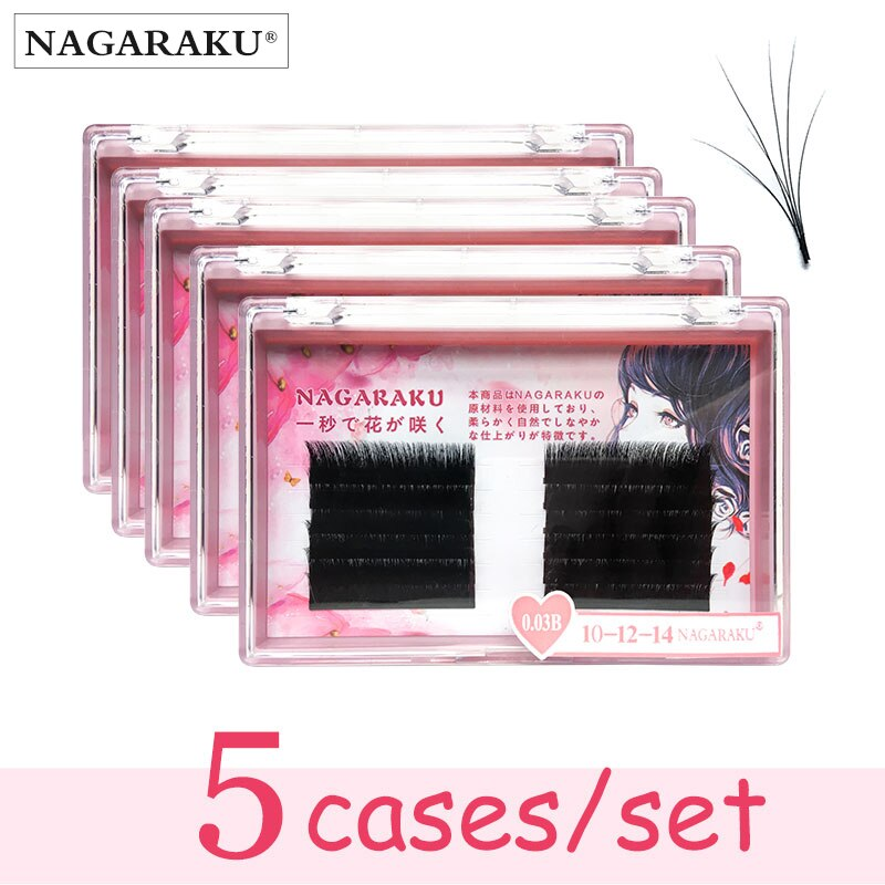 NAGARAKU 5 nuevo autofans pestañas fácil fanning pestañas Volumen de mega fan...