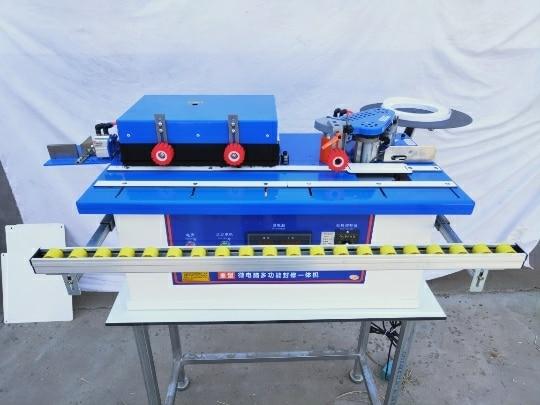 Woodworking Edge Banding Machine Manual Wood Cutting rotary type/Rotary microcomputer straight line curve Edge Machine Automatic