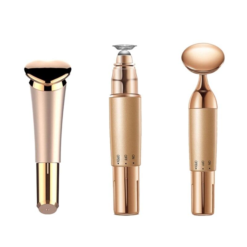 3 pçs/set Massageador Facial Essência Solução Nutritiva Introduzido no Dispositivo de Cuidados Com a Pele Dos Lábios Batom Reparação Ionoforese Rejuven